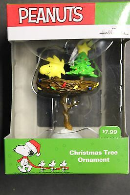 Woodstock in Birdbath Nest 2016 Hallmark Peanuts Christmas Tree Ornament