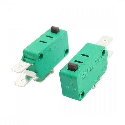 uxcell® 2pcs AC 16A 125V/250V Push Button Actuator Micro Limit Switch KW3-0Z