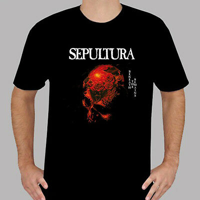 Sepultura *Beneath The Remains Metal Rock Band Men's Black T-Shirt Size S to 3XL