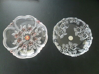 Vintage Mikasa Walther Glass Germany Crystal Dishes  x 2- Buy Now SALE