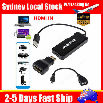 USB VHS HDMI To DVD Audio Video Converter Capture For Android S6 Win 10 8 7 XBOX
