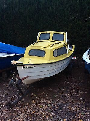 14 foot Mayland Cuddy Yellow Fishing Boat Including Trailer- Estuary/ River