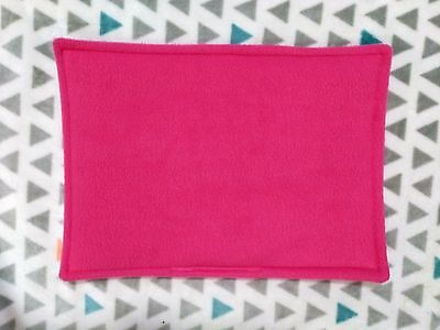 WATERPROOF Guinea Pig and small animal lap pad made by ATALAS, pink 13x10