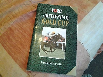 Cheltenham Gold Cup Programme 3rd day 1997