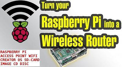 Raspberry PI 1 - 2  Automatic Access Point Maker WIFI OS SD Card Image CD
