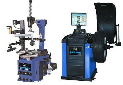 Tyre Changer Automatic with Rapid Inflation & Automatic Wheel Balancer