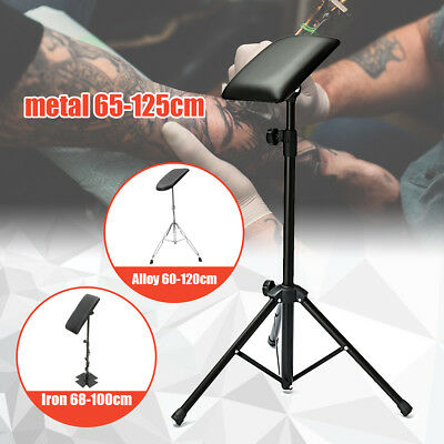 Height Adjustable Tattoo Tripod Stand Arm Leg Rest Studio Chair bed Pad Portable