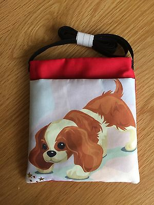 DOG TREAT CROSS OVER THE SHOULDER (Cavalier) BAG FOR DOG SHOWS OR TRAINING