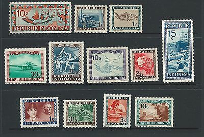 INDONESIA   SELECTION OF EARLY ISSUES x 12 (MINT/ MINT HINGED)