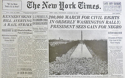 Freedom March Washington Rally Civil Rights Protest Mlk King Jfk 1963 August 29