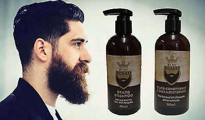By My Barbe- barbe Shampooing+ Après-shampooing 300ml-Non Gras Formule,Soyeux