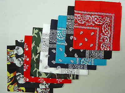 100% Cotton Head Wrap Scarf Bandana Paisley Biker Scarf Summer Headwrap Mask