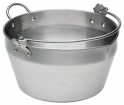 Kitchen Craft Stainless Steel 9 Litre Maslin Pan with Handle