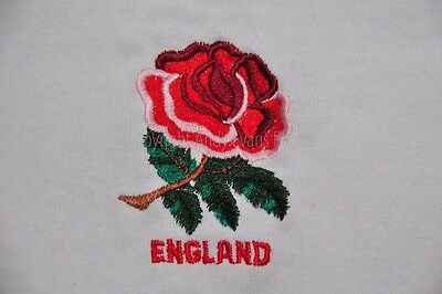 The red rose embroidered on an England rugby shirt photo picture poster print