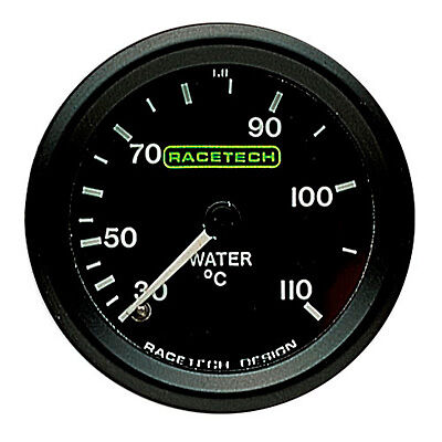 "Water Temperature Gauge Dial 52mm/2"" Formula Ford RACETECH 7ft"
