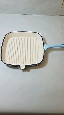 Tower Blue 24cm Cast Iron Square Grill