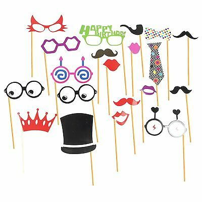 Stylish Selfie Photo Booth Prop Kits For Party & Instagram 20pcs - Birthday