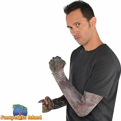 ZOMBIE ROTTING FLESH BLOODY HALLOWEEN SLEEVES Mens fancy dress accessorry