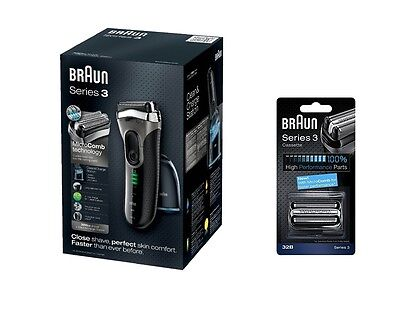 Braun 3090cc-4 Electric Shaver + Clean & Charge System + 32B Foil Cutter Casette