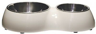 Catit Double Diner CAT/ DOG Water and Food Bowl Station White Feeder Non Slip