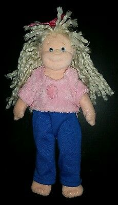 "7"" Ty Blonde Sweet Sally 2002 doll plush Beanie Bopper"