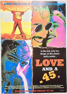 Love And A 45 / Original Vintage Video Film Poster / Renee Zellweger 5