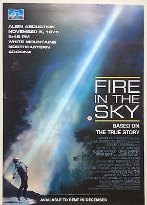 Fire In The Sky / Original Vintage Video Film Poster / 5