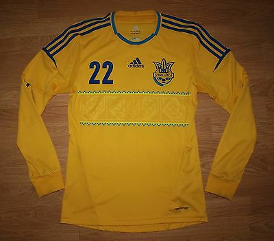 Ukraine Euro 2012 U20 Player Issue Home Football Long Sleeve Jersey Formotion