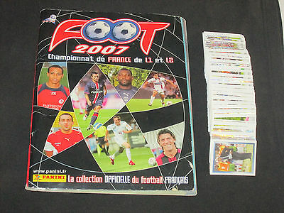 LOT SET JEU COMPLET 570 IMAGES FOOT 2007 PANINI FRANCE CHAMPIONNAT ( pas album )