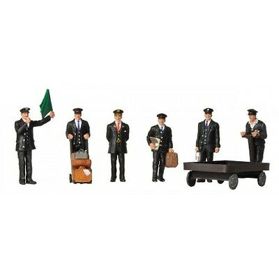 1940/50s Station Staff (x6) - Bachmann 36-404 - OO painted figures - free post