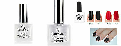 NEW Golden Rose Top Coat Maxi Brush Matte Nail Lacquer Gel Look Superior