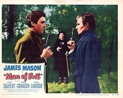 "4 James Mason Stewart Granger Man Of Evil Original 11x14"" Lobby Cards LC235"
