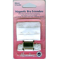 Hemline - Magnetic Bra Extender: White - 50mm Relieves Tightness No Sew