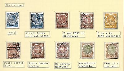 Netherlands Indies stamps 1903 collection of 10 ERRORS  CANC  VF