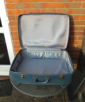 Vintage Suitcase / Luggage Trunk - Blue - 1950's - Lined - Shop Display