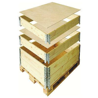 Brand New Exporta 800 x 600mm Flexi-Crate Pallet Collar Treated And Stamped