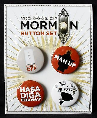 The Book of Mormon - Broadway Musical - 4 Button Pin Set