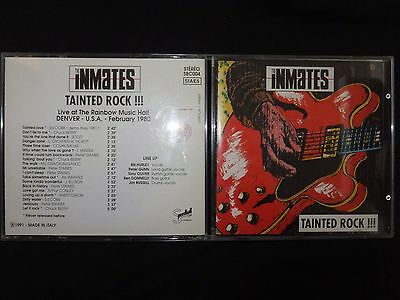 Cd The Inmates / Tainted Rock Iii / Live Denver 1980 / Rare /