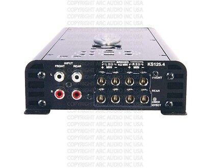 Arc Audio KS 125.4 Mini Pro Motorcycle Amplifier KS125.4MINI