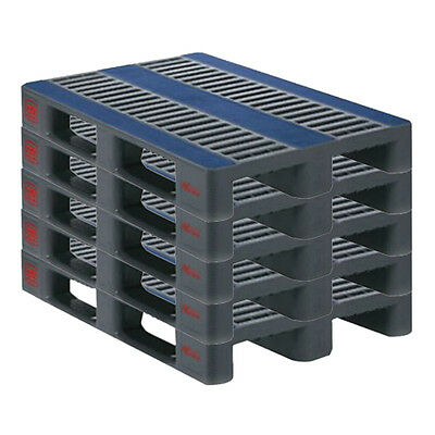 5 x New Exporta 1200x800mm Heavy Duty Anti-Slip Euro Plastic Pallet