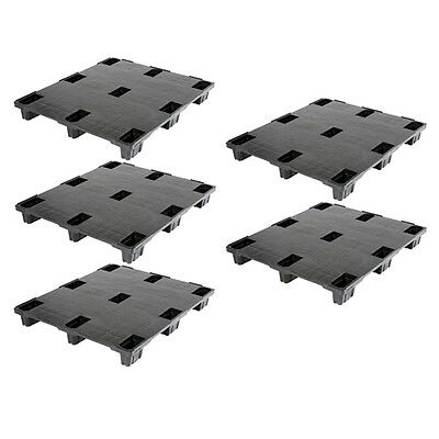 5 x New Exporta 1200x1000mm Heavy Duty Nestable Closed Deck Standard Pallet