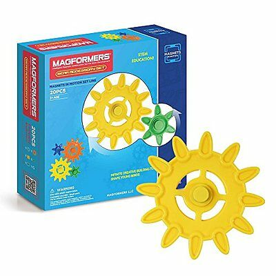 Magformers Magnets In Motion Accessory Set (20-Pieces) Toy Play Bpa Free New