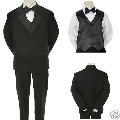 Infant,Toddler,Boy Wedding Formal Black Party Tuxedo Suit S M L XL 2T 3T 4T-20