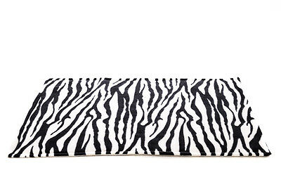 WATERPROOF Guinea Pig and small animal fleece cage liner Zebra, size 80x44cm