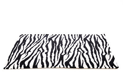 WATERPROOF Guinea Pig and small animal fleece cage liner Zebra, size 100x54cm