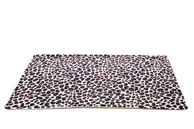 SPECIAL OFFER!!!WATERPROOF Guinea Pig fleece cage liner Leopard size 120x59cm