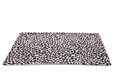 SPECIAL OFFER!!!WATERPROOF Guinea Pig fleece cage liner Leopard size 80x44cm