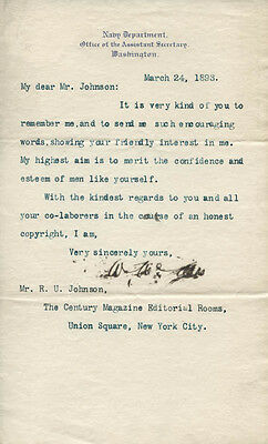 WILLIAM McADOO - TYPED LETTER SIGNED 03/24/1893