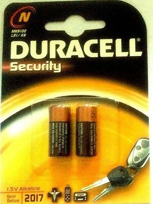 LR1 MN9100 'N' DURACELL BATTERY 1.5v ALKALINE BATTERIES - 1 x Sealed Pack of 2