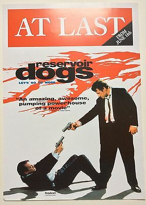 Reservoir Dogs / Original Vintage Video Film Poster / Quentin Tarantino 5